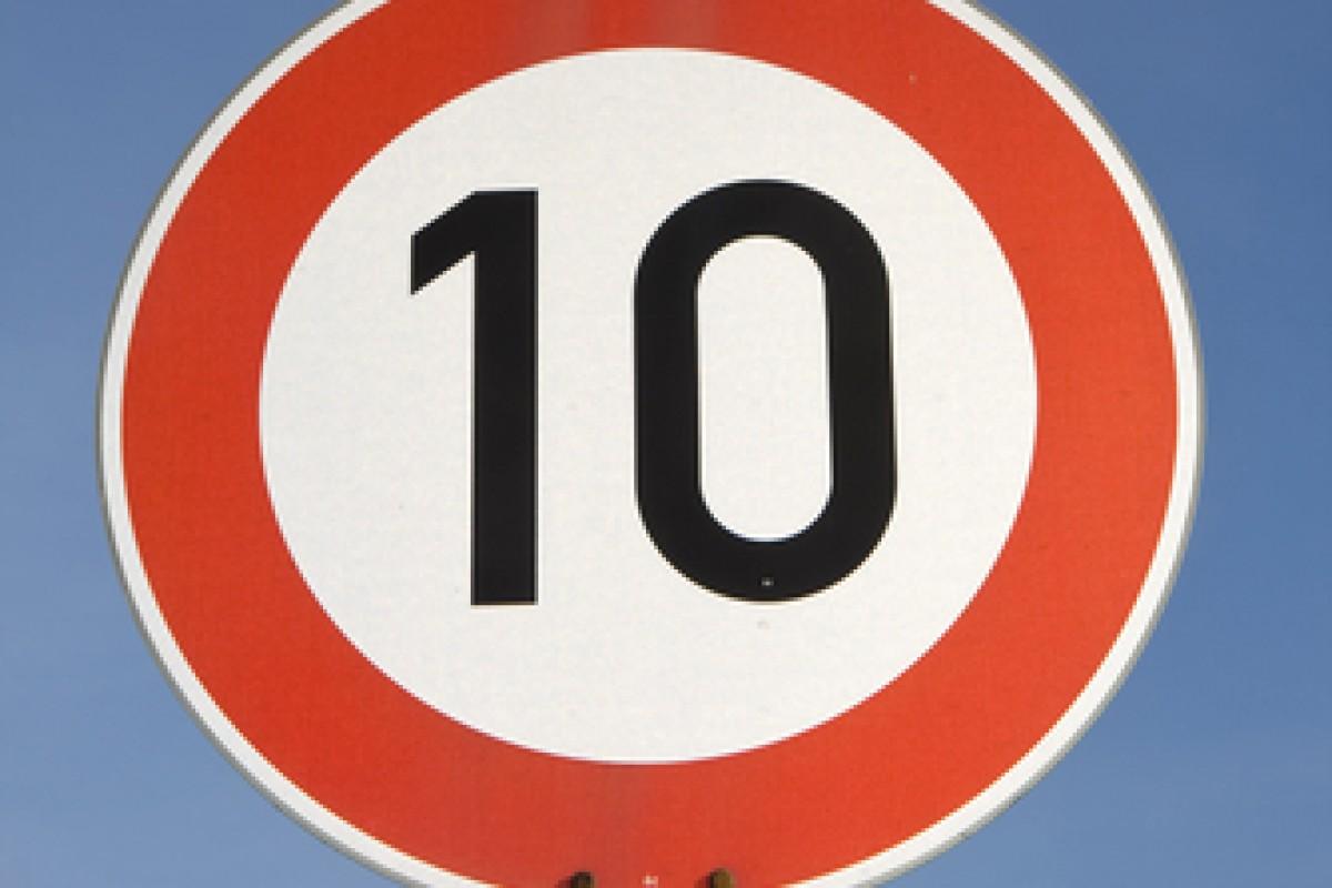 10 roadsign