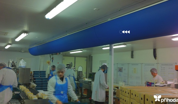 Cheese Factory Prihoda Fabric Ducting