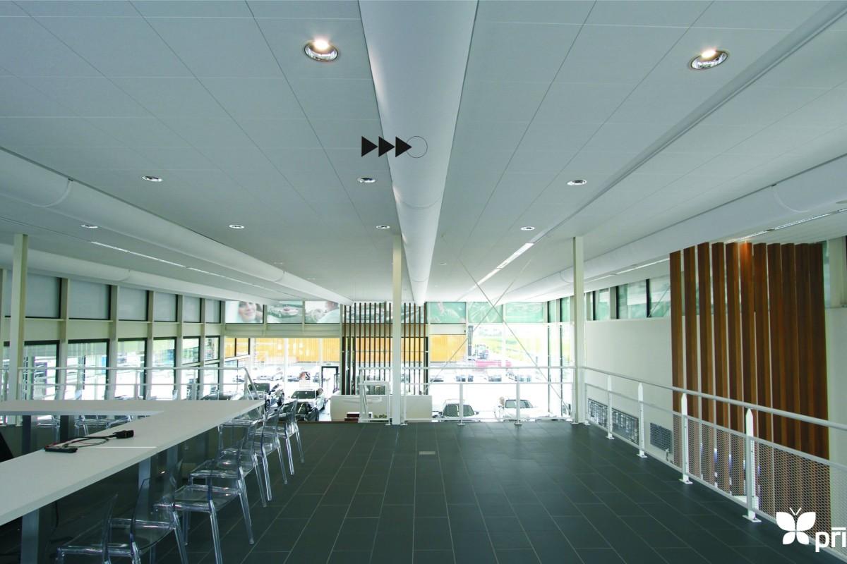 sales area textile ventilation