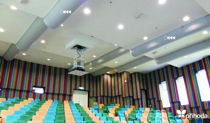 Prihoda lecture hall ventilation ductwork