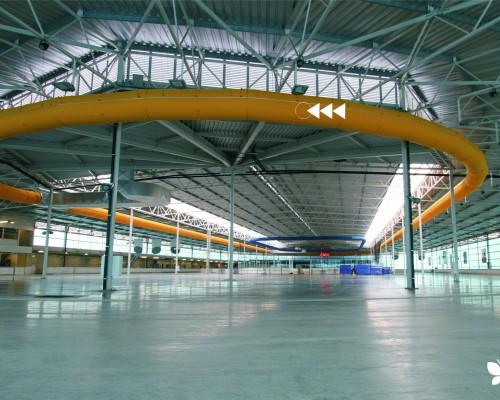 Sports Hall Ventilation Ducting