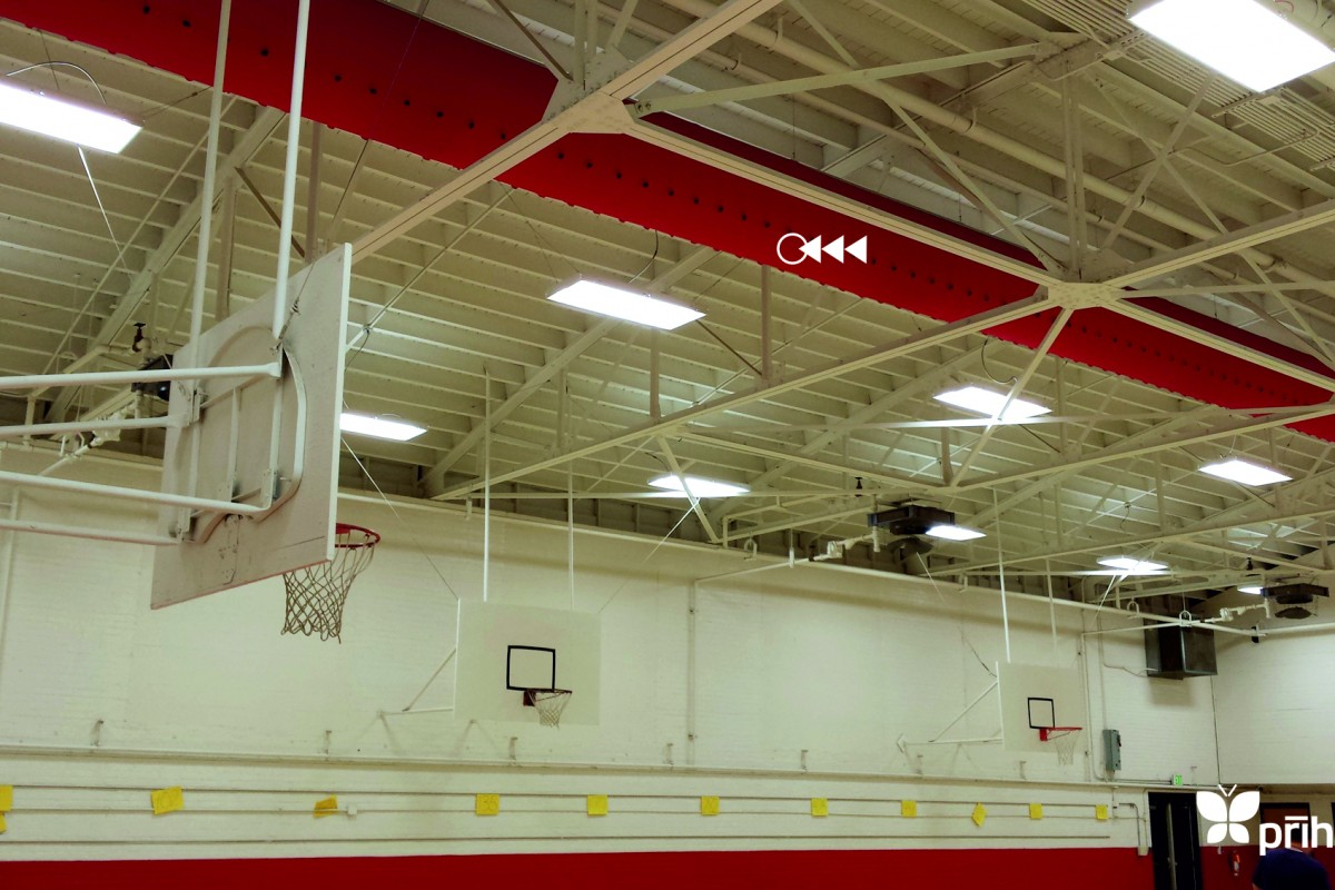 Sports hall Heating Ductwork