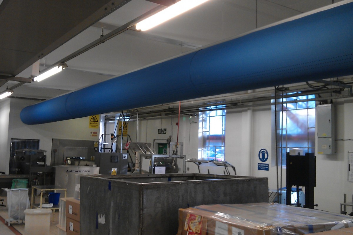Food factory Fabric Ducting