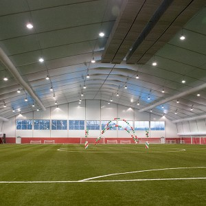 Indoor Football Training Area Prihoda Fabric Ducting